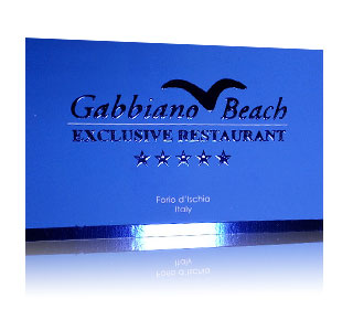 Embossed Blue Cards