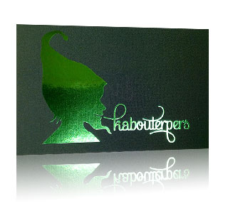 Green Metallised Cards